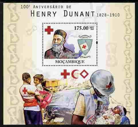 Mozambique 2010 Death Centenary of Henry Dunant perf s/sheet unmounted mint