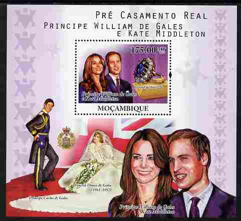 Mozambique 2010 Royal Engagement - William & Kate perf s/sheet unmounted mint