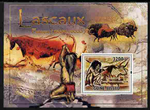 Guinea - Bissau 2010 Lascaux Cave Paintings perf s/sheet unmounted mint