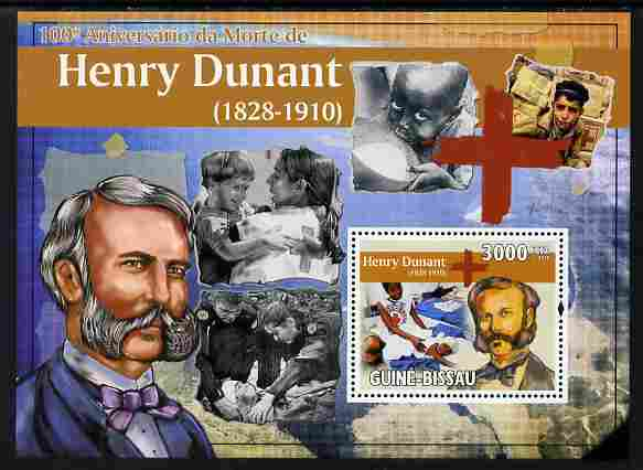 Guinea - Bissau 2010 Death Centenary of Henry Dunant perf s/sheet unmounted mint
