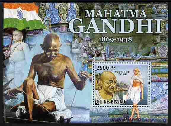 Guinea - Bissau 2010 Mahatma Gandhi #1 perf s/sheet unmounted mint