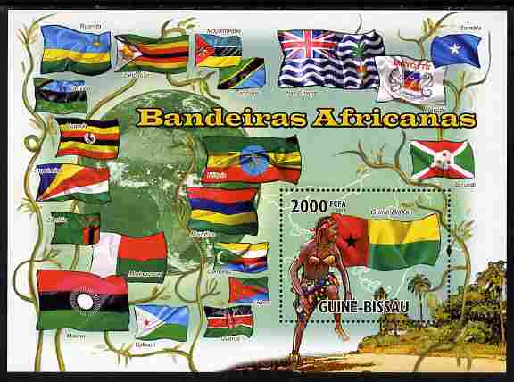Guinea - Bissau 2010 African Flags #1 perf s/sheet unmounted mint