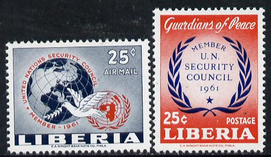Liberia 1960 UN Security Council set of 2 unmounted mint, SG 841-42