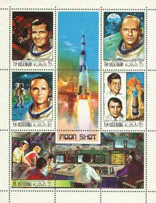 Ras Al Khaima 1969 Apollo 12 perf sheetlet containing set of 5 unmounted mint, Mi 339-42A