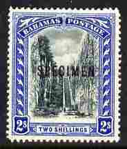 Bahamas 1901-03 Staircase 2s Crown CC overprinted SPECIMEN fresh with gum SG 60s (only about 750 produced)