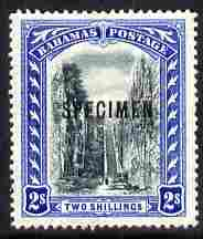 Bahamas 1901-03 Staircase 2s Crown CC overprinted SPECIMEN fresh with gum but light crease SG 60s (only about 750 produced)
