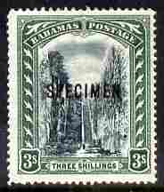 Bahamas 1901-03 Staircase 3s Crown CC overprinted SPECIMEN fresh with gum SG 61s (only about 750 produced)