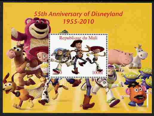 Mali 2010 55th Anniversary of Disneyland - Toy Story #1 perf s/sheet unmounted mint. Note this item is privately produced and is offered purely on its thematic appeal