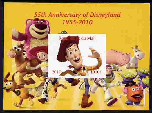 Mali 2010 55th Anniversary of Disneyland - Toy Story #2 imperf s/sheet unmounted mint. Note this item is privately produced and is offered purely on its thematic appeal