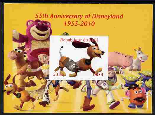 Mali 2010 55th Anniversary of Disneyland - Toy Story #3 imperf s/sheet unmounted mint. Note this item is privately produced and is offered purely on its thematic appeal