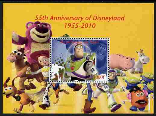 Mali 2010 55th Anniversary of Disneyland - Toy Story #4 perf s/sheet unmounted mint. Note this item is privately produced and is offered purely on its thematic appeal