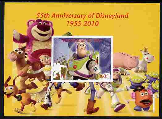 Mali 2010 55th Anniversary of Disneyland - Toy Story #4 imperf s/sheet unmounted mint. Note this item is privately produced and is offered purely on its thematic appeal