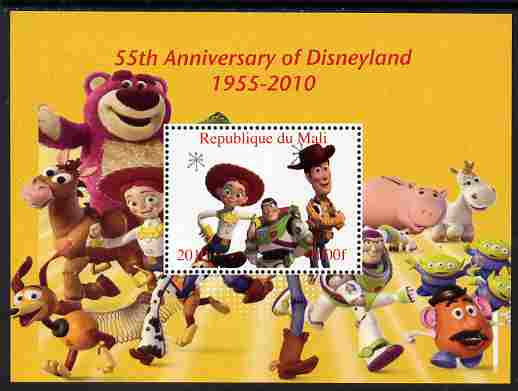 Mali 2010 55th Anniversary of Disneyland - Toy Story #5 perf s/sheet unmounted mint. Note this item is privately produced and is offered purely on its thematic appeal