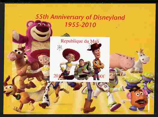 Mali 2010 55th Anniversary of Disneyland - Toy Story #5 imperf s/sheet unmounted mint. Note this item is privately produced and is offered purely on its thematic appeal
