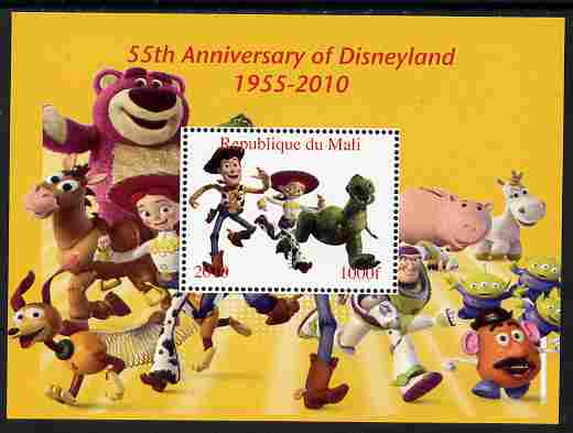 Mali 2010 55th Anniversary of Disneyland - Toy Story #6 perf s/sheet unmounted mint. Note this item is privately produced and is offered purely on its thematic appeal