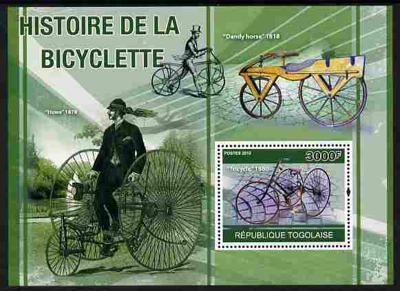 Togo 2010 History of the Bicycle perf m/sheet unmounted mint
