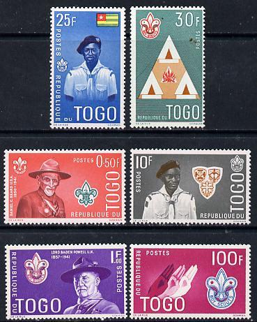 Togo 1961 Boy Scout Commem set of 6 SG 281-86*