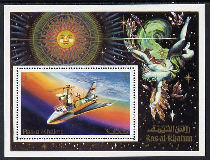Ras Al Khaima 1972 Skylab perf m/sheet (Mi BL 133A) unmounted mint