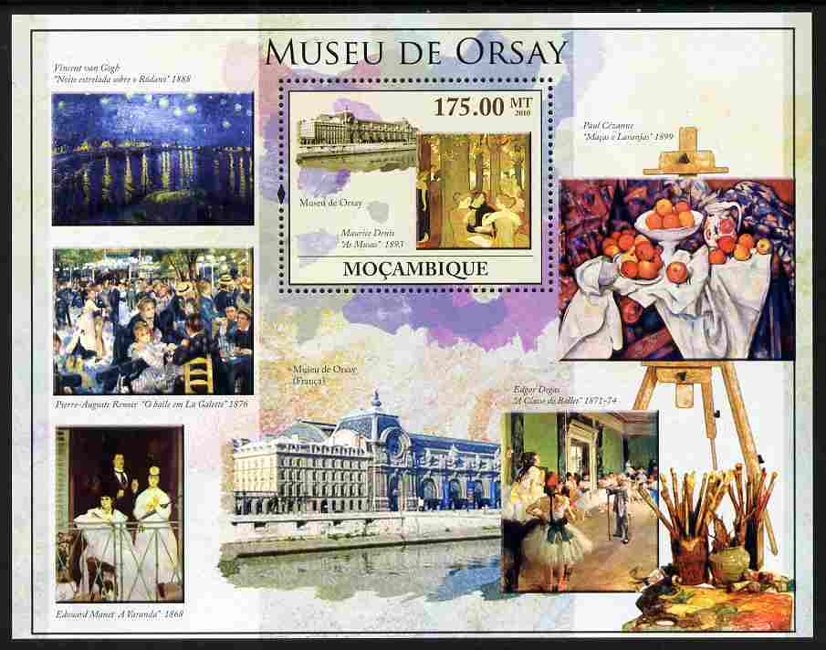 Mozambique 2010 The Orsay Museum, Paris perf m/sheet unmounted mint, Yvert 301