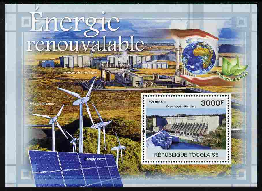 Togo 2011 Renewable Energy perf s/sheet unmounted mint