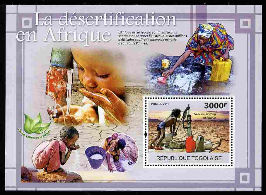 Togo 2011 Environment - Desertification in Africa perf s/sheet unmounted mint