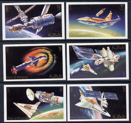 Ras Al Khaima 1972 Skylab imperf set of 6 unmounted mint Mi 752-57B