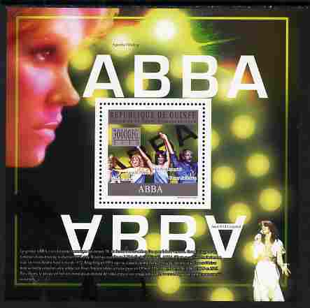Guinea - Conakry 2010 ABBA (pop group) perf s/sheet unmounted mint, Michel BL 1812