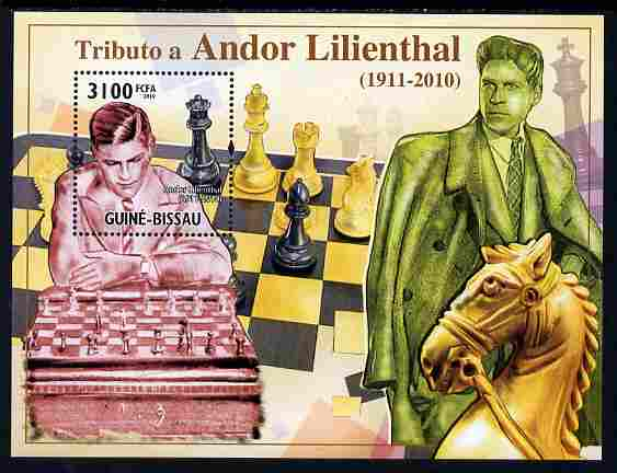 Guinea - Bissau 2010 Chess - Tribute to Andor Lilienthal perf s/sheet unmounted mint, Michel BL 884