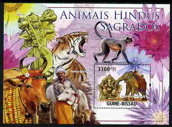 Guinea - Bissau 2010 Sacred Animals of Hinduism perf s/sheet unmounted mint, Michel BL 888