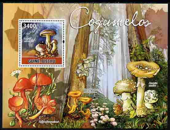 Guinea - Bissau 2010 Mushrooms perf s/sheet unmounted mint, Michel BL 885