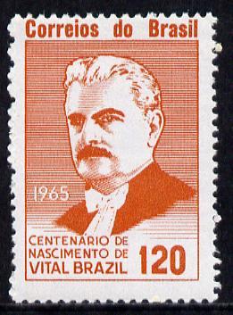 Brazil 1965 Birth Centenary of Vital Brazil (Scientist) SG 1114