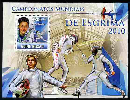Guinea - Bissau 2010 Fencing perf s/sheet unmounted mint, Michel BL 881