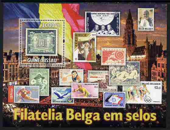 Guinea - Bissau 2010 Belgian Stamp on Stamp perf s/sheet unmounted mint, Michel BL 880