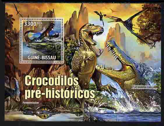 Guinea - Bissau 2010 Evolution of Crocodiles perf s/sheet unmounted mint, Michel BL 894