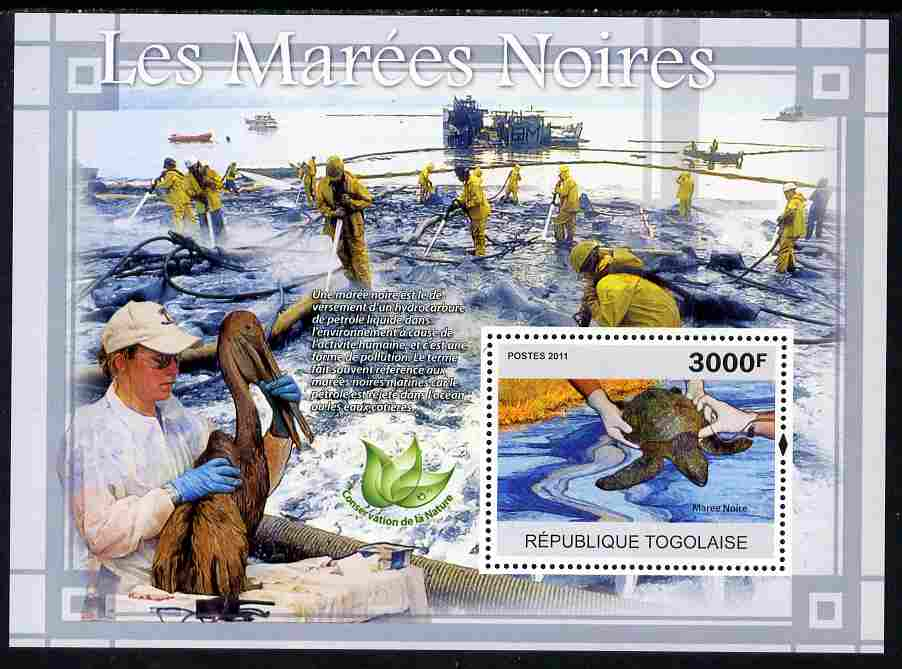 Togo 2011 Environment - Oil Spills - Animals & Birds perf s/sheet unmounted mint