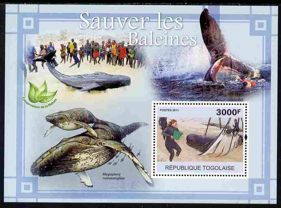 Togo 2011 Save the Whales perf s/sheet unmounted mint