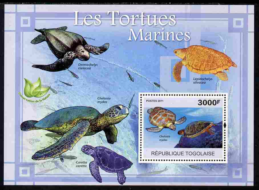 Togo 2011 Marine Turtles perf s/sheet unmounted mint