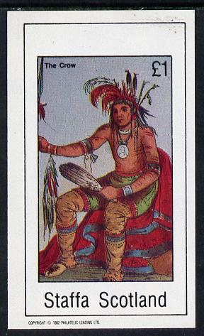 Staffa 1982 N American Indians #04 imperf souvenir sheet unmounted mint (�1 value)