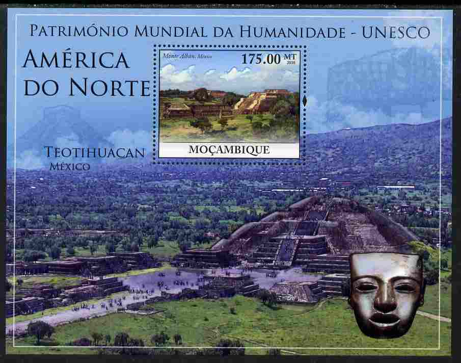 Mozambique 2010 UNESCO World Heritage Sites - North America #1 perf m/sheet unmounted mint, Yvert 296