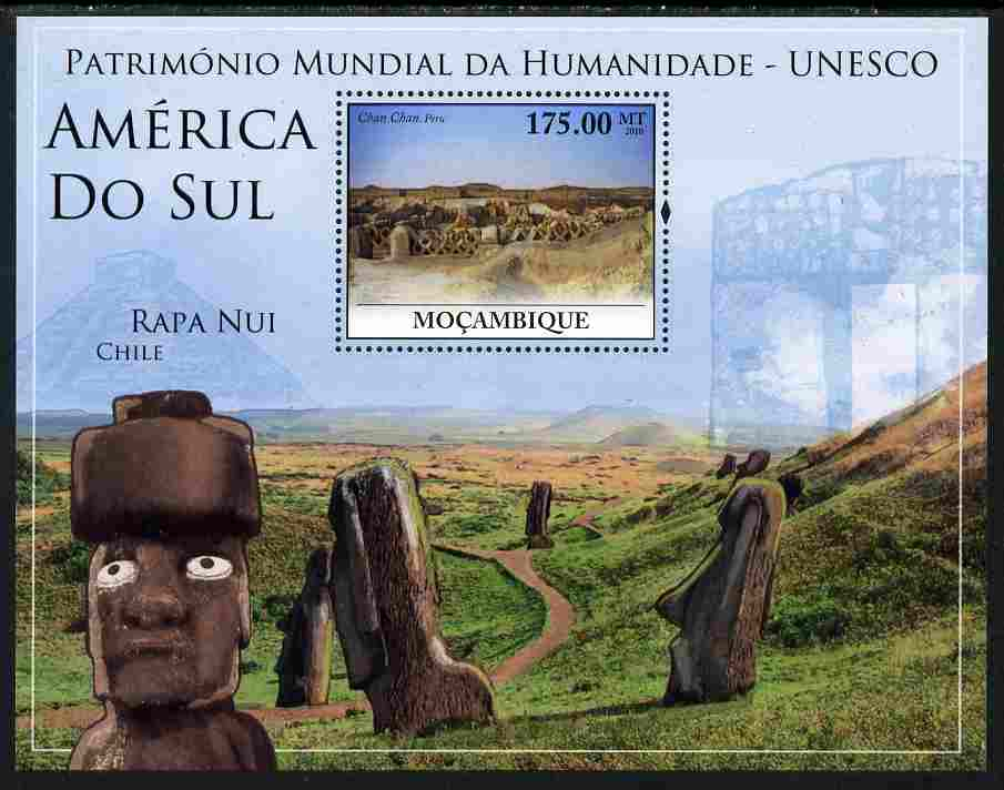 Mozambique 2010 UNESCO World Heritage Sites - South America #2 perf m/sheet unmounted mint, Yvert 298