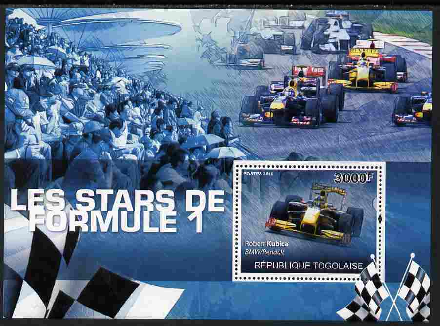 Togo 2010 Formula 1 Stars perf s/sheet unmounted mint Yvert 421, stamps on sport, stamps on  f1 , stamps on formula 1, stamps on cars