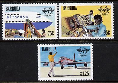 Barbuda 1979 Civil Aviation Anniversary set of 3 unmounted mint SG 461-3