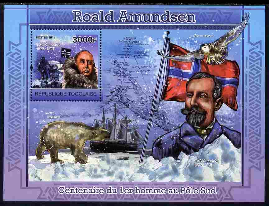 Togo 2011 Roald Amundsen perf s/sheet unmounted mint