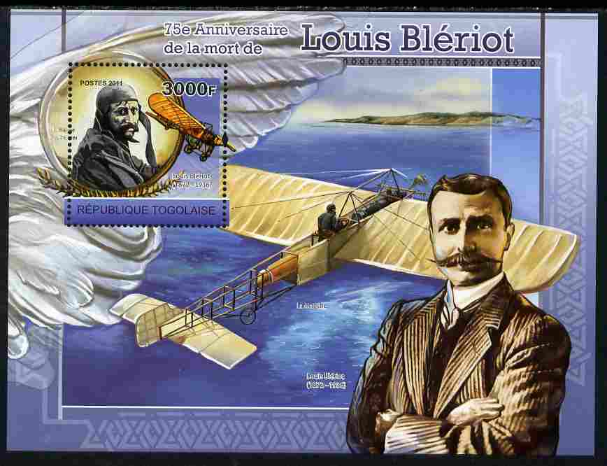 Togo 2011 75th Death Anniversary of  Louis Bleriot perf s/sheet unmounted mint