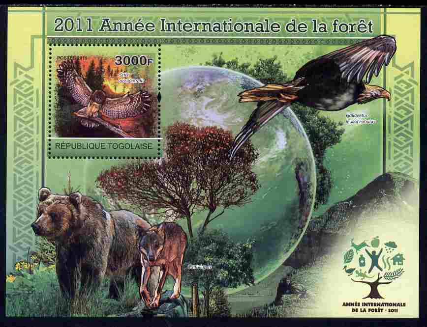 Togo 2011 International Year of the Forest perf s/sheet unmounted mint