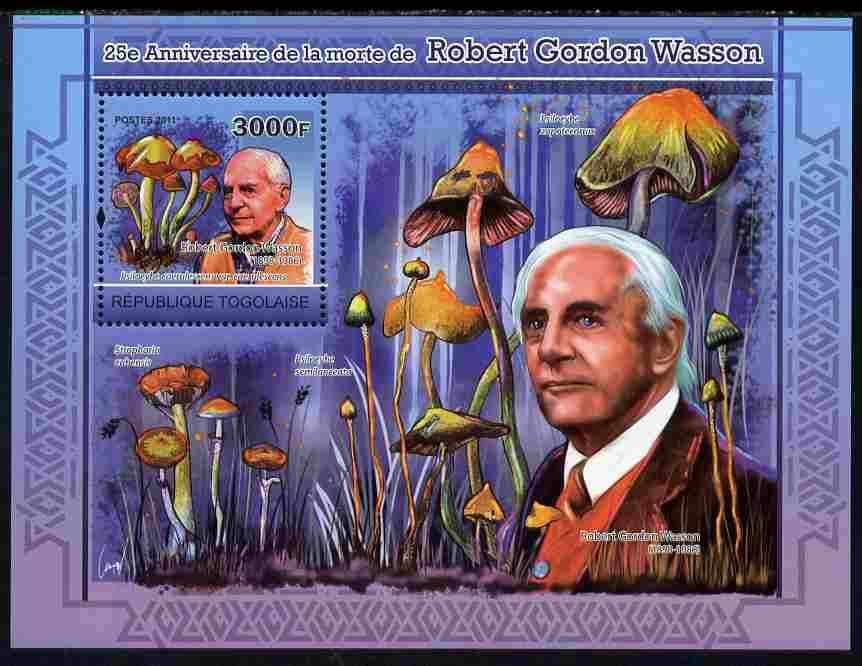 Togo 2011 25th Death Anniversary of  Robert Gordon Wasson perf s/sheet unmounted mint