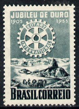 Brazil 1955 50th Anniversary of Rotary Int unmounted mint SG 922