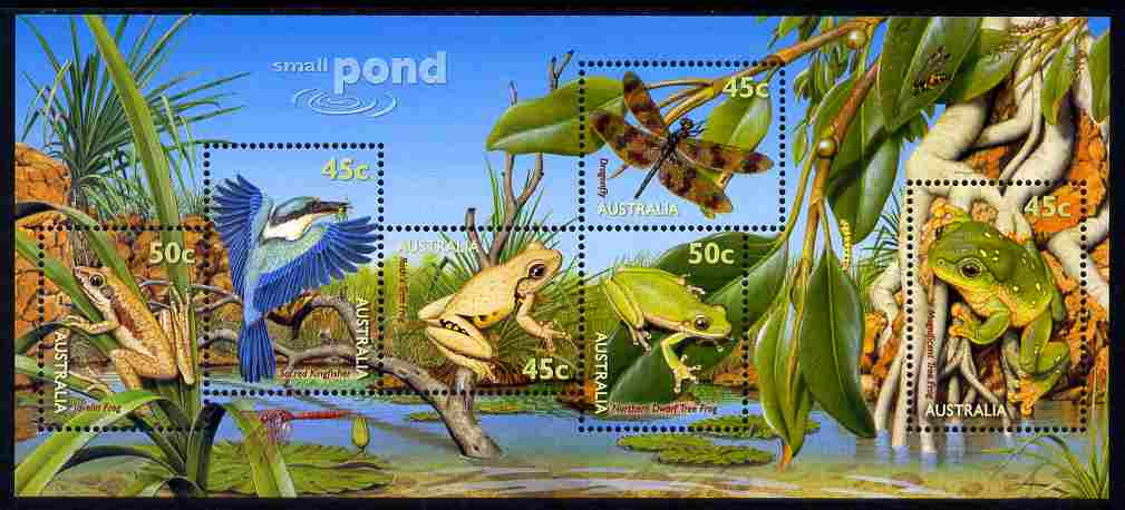 Australia 1999 Small Pond Life m/sheet unmounted mint, SG MS 1913