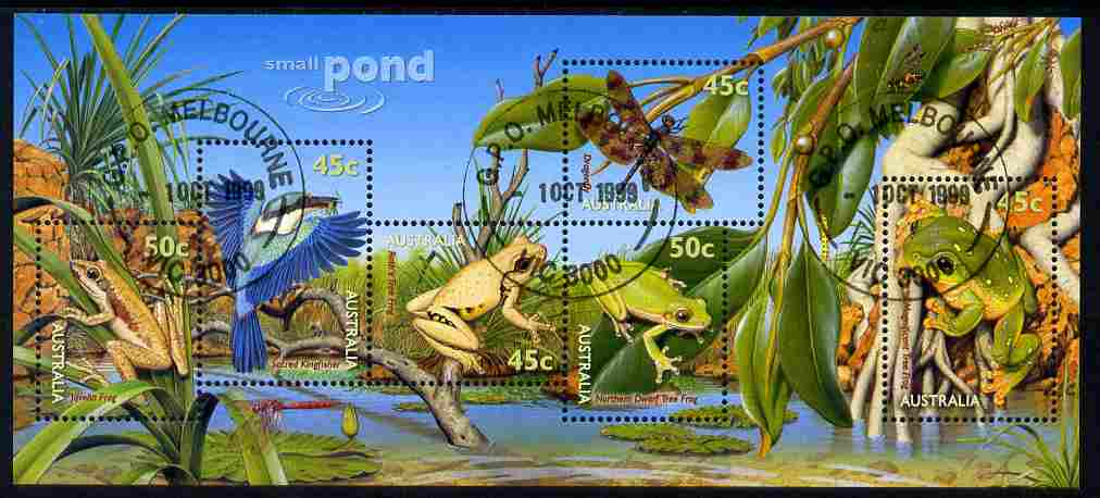 Australia 1999 Small Pond Life m/sheet fine cds used, SG MS 1913
