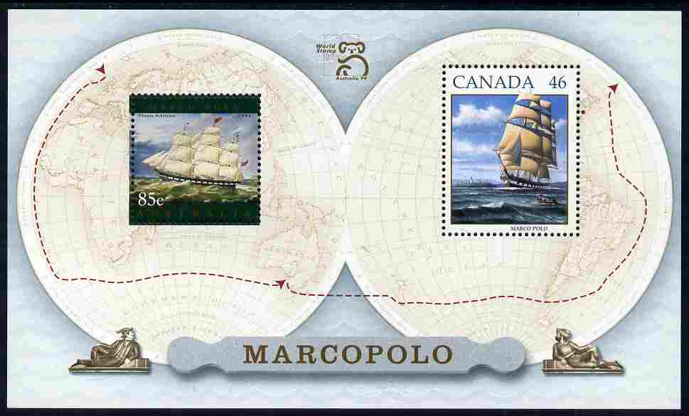 Australia & Canada 1999 Joint issue - Marco Polo m/sheet unmounted mint, SG MS 1851